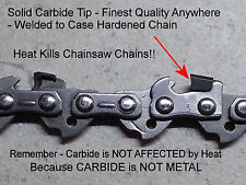 "*SOLID CARBIDE* 91PX52CQ Chainsaw Chain 14"" 3/8 050 52 Link Echo© Saws SEE VIDEO"