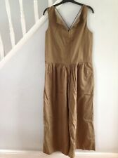 Zara Olive Khaki Green Wide Leg Pocket Culotte Cross Back Jumpsuit Bnwt Small