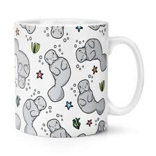 Manatee Pattern 10oz Mug Cup - Animal Sea Funny