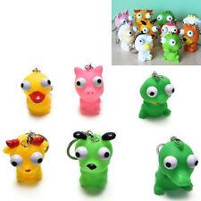 1 Pcs Raised Eyes Doll Anti Stress Ball Vent Animal Keychain Squeezing Toys CuZO