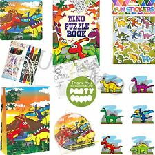 Kids Ready Made Dinosaur Paper Party Bags Boys Girls Filled Bags