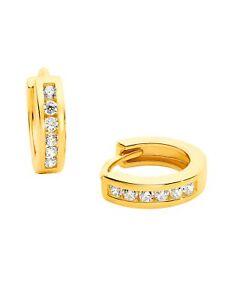 Prinzessin Lillifee Ohrringe Mädchen Creolen Gold Weiß Zirkonia 2029722