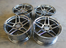 "18"" AC Schnitzer type III 3 chrome concave staggered BMW wheels E31 E34 E39 E60"
