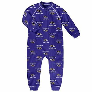 Outerstuff NFL Toddlers Baltimore Ravens Zip Up Coverall Pajamas
