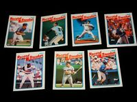 Vintage Baseball Cards, LOT OF 7 1989 TOPPS, Set, 1988 Record Breakers,