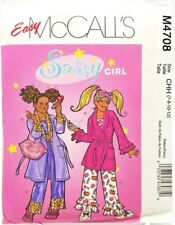 Girls Robe Pajamas Sleeping Mask Bag Sewing Pattern M4708 Size 7 8 10 12
