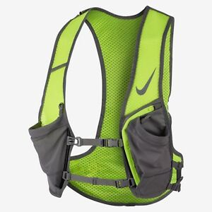 NWT Nike Unisex Hydration Race Running Vest Volt Grey 3M Large / XL NRL84 055
