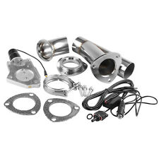 "2"" Stainless Electric Exhaust Cutout Y Pipe Valve Motor Kit With Manual Switch"