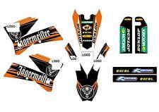 KTM GRAFICHE STICKERS JAGERMEISTER EXC SX 2003 2004 2005 2006 2007