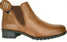 Womens Comfort Plus Leather Ankle Boots Brown Wider Fitting Size UK 6