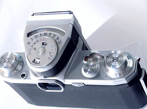 Gorgeous CONTAX E, only 3360 pieces made by VEB Zeiss Ikon, Working Lightmeter