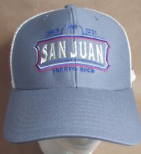 San Juan Puerto Rico Flag Hat Cap Trucker USA Embroidery Unisex New