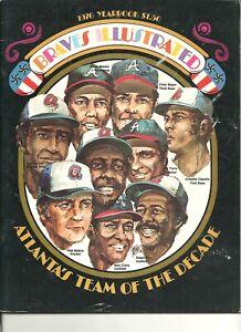 1976 Atlanta Braves Official MLB Baseball Yearbook Phil Niekro Dale Murphy Evans