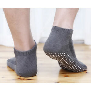 1 Pair  Men's Cotton Non-slip Yoga Socks  Breathable Anti Skid Floor Socks NBDA