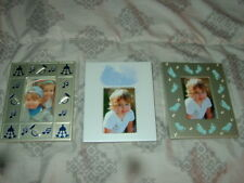"3 New 2"" x 3"" Infant Or Toddler Boys Or Girls Picture Frames-Last 3"