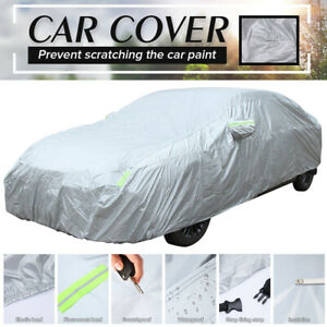 Universal Fit Car Full Cover Waterproof Outdoor All Weather Rain Snow Protection