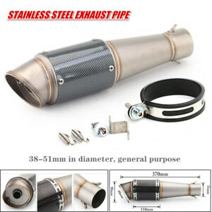 Motorcycle ATV Inclined Stainless Steel Tailpipe Exhaust Pipe Fit For  Kawasaki