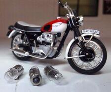 BSA Norton Triumph 12v BA7S 281 HERREROS instrumentos Válvula Bombillas Blanco