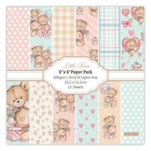 Bear Baby Style Scrapbooking Paper Pack Craft Paper Background Pad 12 Sheets
