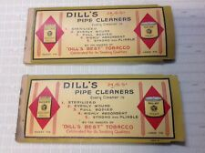 Vintage Old Dill's Best Pipe Tobacco Package with Cleaners Lot of 2