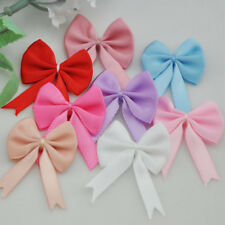 200/40/20pcs Satin Ribbon Bows Flowers Wedding Appliques DIY Craft U pick A044