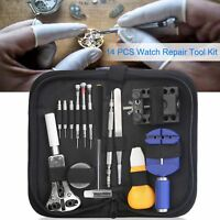 14 PCS Watch Repair Tool Kit Case Opener Spring Bar Tool-Hand Remover with Case