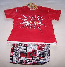 St George Illawarra Dragons Mascot NRL Boys Red Cotton Pyjama Set Size 00 New