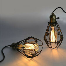 Vintage Pendant Light Cage Lampshade Kitchen Fittings Lighting Ceiling Light