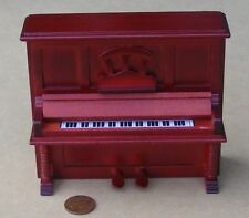 1:12 Scale Brown Wooden Upright Piano Tumdee Dolls House Miniature Instrument 45