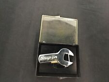 Snap On Tools Belt Buckle Wrench Car Auto Mechanic Chrome on Solid Brass USA