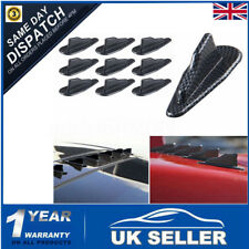 10Pcs EVO-Style PP Universal Vortex Generator Roof Shark Fins Spoiler Wing+Tape