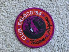 "VTG Club SKI-DOO '94 TUCSON ARIZONA SNOWMOBILE PATCH NEW  Embroidered 3"" NEW NOS"