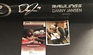 Danny Jansen Toronto Blue Jays Signed Engraved Bat JSA WITNESS COA Black A
