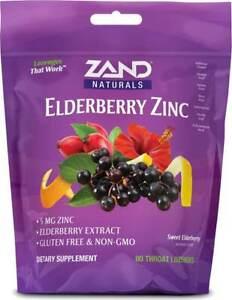 Elderberry Zinc Throat Lozenges by Zand, 80 count