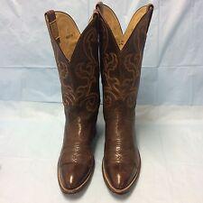 Hondo El Paso Cowboy Boots Brown Men's Size 10 B Pre-owned 1985 Vintage