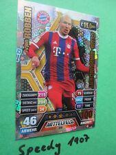 Topps Match Attax extra 14 15 club 100  596 Robben  2014 2015 club einhundert
