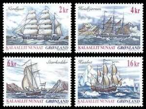 Greenland 2002 Ships, 1st Series, Sailing Vessels, UNM / MNH