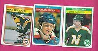 1982-83 OPC STEEN RC + GILES RC + BULLARD RC  CARD (INV# C2349)