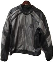 Harley Davidson Men's Mesh Leather Armored Black Gray Motorcycle Jacket - Sz Xxl