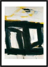 Franz Kline Zinc doors Poster Kunstdruck Bild mit Alu Rahmen in schwarz 90x70cm