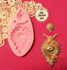 Anjali's Indian Brooch silicone mold fondant cake decorating food  soap wax