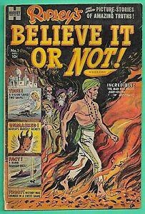 Ripley's Believe It Or Not #1 Harvey 1953 Powell Art Submarine Africa 3.0 Bomb