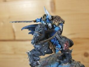 CLASSIC METAL WARHAMMER CHAOS ARCHAON MOUNTED WELL PAINTED (L)