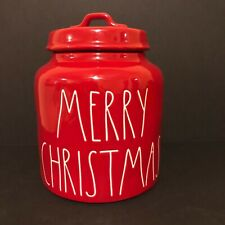 Rae Dunn Red  MERRY CHRISTMAS Canister LL - NEW