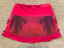 Lucky in Love Neon Pink Tropical Tennis Skort~Size S (4-6)~Authentic~EUC