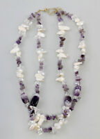 8325350 Amethyst-Collier with Mother of Pearl L 48 CM