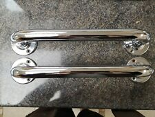 2x Stainless Steel Bathroom Disability Grab Handle Hand Rail 38cm Support Bar