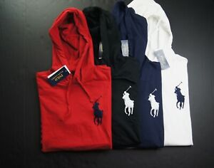 POLO RALPH LAUREN Men's Big Pony US Flag POLO 1967 Jersey Hooded T-Shirt NEW NWT