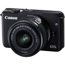 Canon EOS M10 Mirrorless Digital Camera with 15-45mm Lens - Black