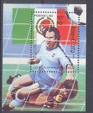 Laos Fussball  Fußball 1985 Block  postfrisch  **